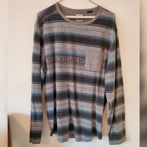 Stripped Gray Long Sleeve